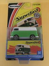 Matchbox SUPERFAST 1 of 15000 #54 Volkswagen Transporter - Green & White