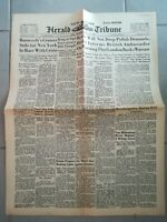 Fac similé Journal - HERALD TRIBUNE 24 AOÛT 1939