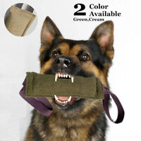 Durable Dog Bite Tug Toy Jute Pet Training Chewing 2 Handles Chewing Play Fun