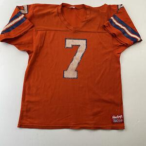 Vintage Rawlings Broncos Jersey NFL #7 John Elway Men's Large Made in USA
