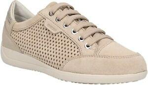 scarpe donna GEOX 36,5 sandali beige vernice camoscio DT381