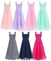 UK Chiffon Lace Princess Flower Girl dress Junior Wedding Bridesmaid dress 4-14