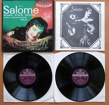 SET 228-9 WBg Strauss Salome Nilsson Solti VPO 2xLP Decca Stereo Wideband EX/EX