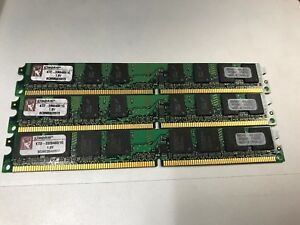 Lot of 3 Kingston 1GB PC2-5300 DDR2-667 Desktop Memory KTD-DM8400B/1G RAM