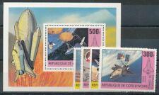 663788) Elfenbeinküste Nr.680-3+Block 17** Raumfahrt