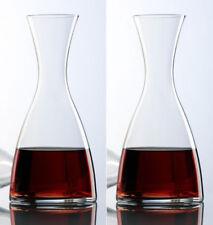 2x 1.2L BOHEMIA CRYSTAL Wine Decanter Carafe glass 31A48