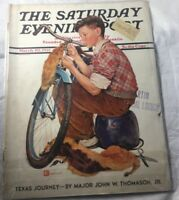 The Saturday Evening Post March 20 1937 Boy and his Bike  Texas Journey
