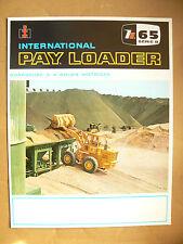 Prospectus Tracteur PAYLOADER H65 sB INTERNATIONAL IH Mac Cormick TP bulldozer