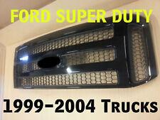 Ford High Gloss BLACK Grille CONVERSION Fits 1999-2004  F250 F350 F450 F550