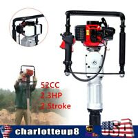 52CC 2.3HP Heavy Duty Gas Powered Fence Pile Driver T-Post Push Gasoline Engine