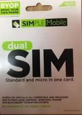 Simple Mobile Bring Your Own Phone Dual Sim Card (Il/Pl1-1750-Trpk-Smbyods t5-.