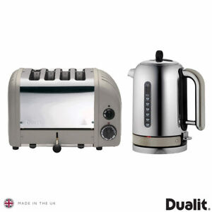 Dualit Classic Kettle & Toaster Set Shadow Grey, 10129