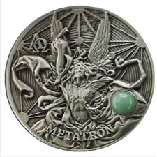 2016 Metatron the King Of Angels 2oz Silver Antiqued Coin
