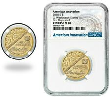 2018 S AMERICAN INNOVATION $1 REVERSE G.WASHINGTON-SIGNED NGC PF70 FIRST DAY ANA