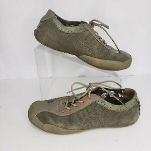 Teva Size 8.5 Oxford Keagan Women's Green Suede Walking Lace Up 6053 Comfort