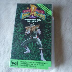 POWER RANGERS Green with Evil Parts 4&5 1995 VHS Video Tape SUPERHERO Action