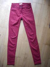 Tom Tailor Denim Jeans Hose 34 36 M Top Skinny Röhre rot Röhrenjeans