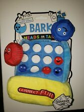 New listing Bark 3pc Connect Fur Heads Or Tails Dog Toy ~ Squeakers & Ballistic Nylon ~ New