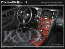 Dash Trim Kit for INFINITI QX70 09 10 11 12 13 14 15 16 17 carbon fiber wood alu