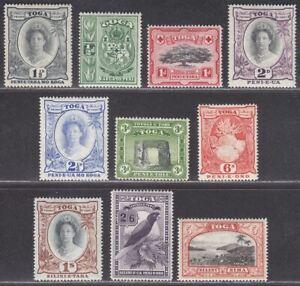 Tonga 1942 Queen Salote Set Mint SG74-82 cat £70