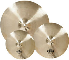 "Wuhan WU457 Brass Cymbal Set with 14"" Hi-Hats, 16"" Crash, and 20"" Ride"