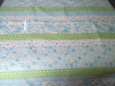 Pottery Barn Kids Twin Quilt Bedspread Butterfly Daisy Polka Dot Green Blue