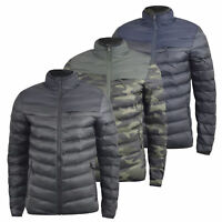 Mens Jacket Crosshatch Padded Camouflage Quilted Bubble CHANKFORD Amry  Winter 4203898d83f8