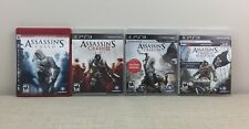 Assasin's Creed Lot of 4 games including 1-4, Black Flag for PS3