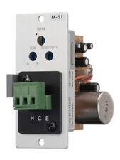 TOA M-51S Microphone Input Module, Balanced, 200 Ohms, Lo-Cut Filter, Voice Gate