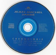 "JEAN MICHEL JARRE ""CHRONOLOGIE"" RARE AUSTRALIAN BLUE FACE CD / AMCOS SOCIETIES"