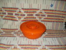 """RADIOACTIVE RED""  FIESTA KITCHEN KRAFT MEDIUM CASSEROLE & LID -FIESTAWARE -K16"