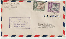 GAMBIA - 1941 GVI FIRST FLIGHT COVER BATHURST TO USA