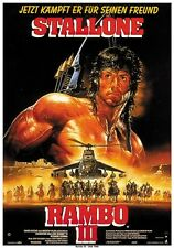 Rambo III (1988) Sylvester Stallone movie poster print 2