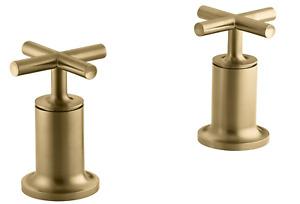 Kohler K-T14429-3-BGD Purist Bath-Or-Deck-Mt Valve Trim W/Handles, Brushed Gold