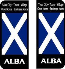 ALBA Scotland Scottish Flag Number Plate Badge Personalised Sticker Car Decal 4