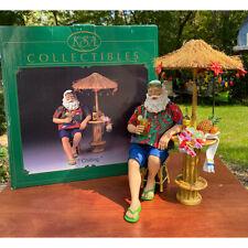 """KSA Kurt Adler Santa """"Chilling"""" Tiki Bar Beach Collectible Fabriche 2005"""