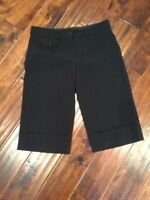BCBG Max Azria Black Cropped Capri Dress Pants, Size 8