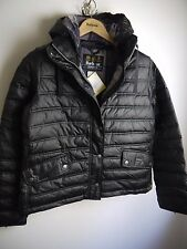 Barbour International Ladies Crown Quilted Jacket, NWT, Black, Size 10 US