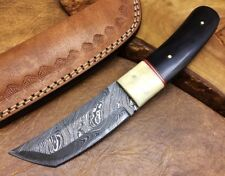 Couteau de chasse Damas Lame fixe Damascus Tanto Knife Camping Bush crafts 189ST