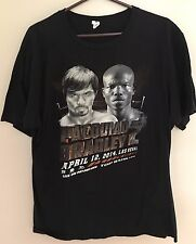 Boxing MANNY PACQUIAO vs. TIMOTHY BRADLEY 2 Black T-Shirt XL 2014