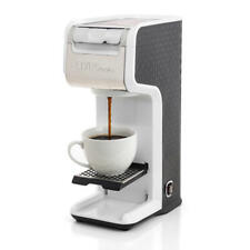 White Slim Design 2 In 1 Single Serve Coffee Maker Brewer, Ground & K-Cup Pods