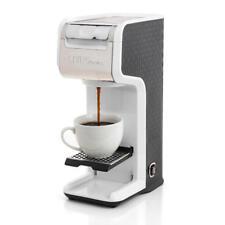 White 2 In 1 Single Serve Coffee Maker Brewer, Ground & K-Cup Pods, Slim Design