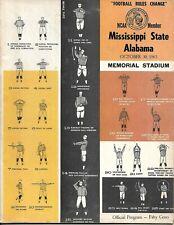 1965 Mississippi State-Alabama Program Bulldogs Hang Tough Against Tide NICE!!