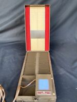 1948 Fodeco 35mm Film Metal Slide Tray Storage Box Case Lighted Viewer Model 155