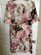 NWT LONDON TIMES WOMEN'S  ABSTRACT FLORAL PRINT DRESS SIZE 14
