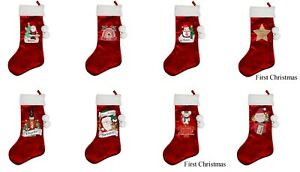 Personalised Luxury Red Christmas Stocking Choose Design  #1