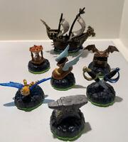 Lot of 7 Skylanders Spyro's Adventure Accessory Set, Pirate Ship, Hourglass etc.