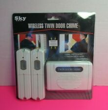 Wireless Twin Door Chime Two Transmitter One Receiver 24 Melodies QH-169 New