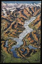 cartolina COMO lago di..cartina geografica