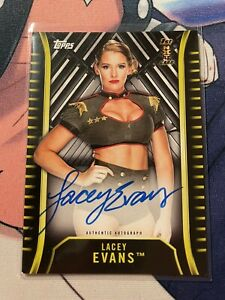 Lacey Evans 2018 Topps WWE NXT Autograph Card A-LE 1st Auto Rookie